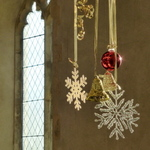 Christmas decorations in St Peter, Ringland - New Year 2014
